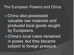 the european powers and china1