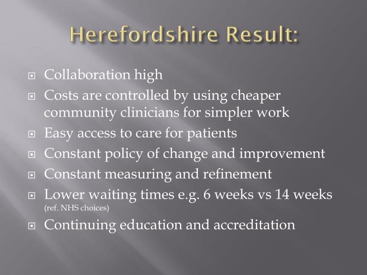 Herefordshire Result: