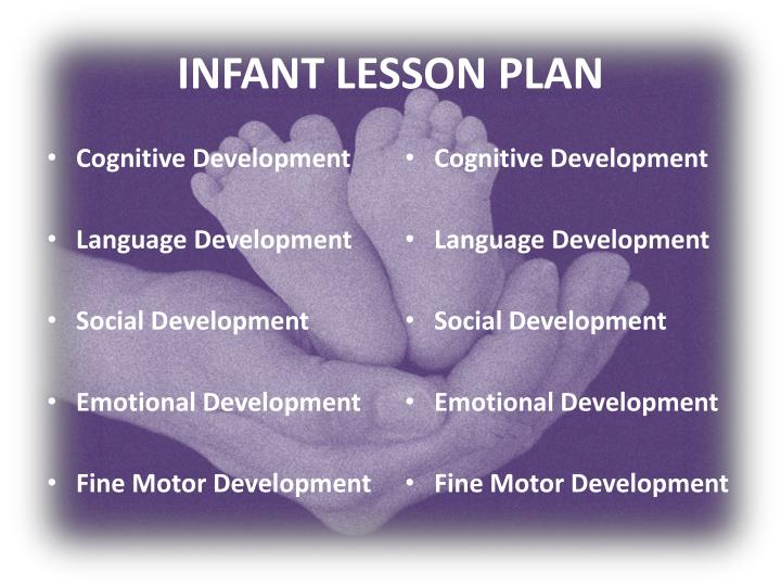 INFANT LESSON PLAN