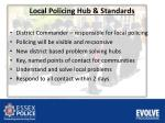 local policing hub s tandards