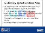 modernising contact with essex police