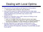 dealing with local optima1