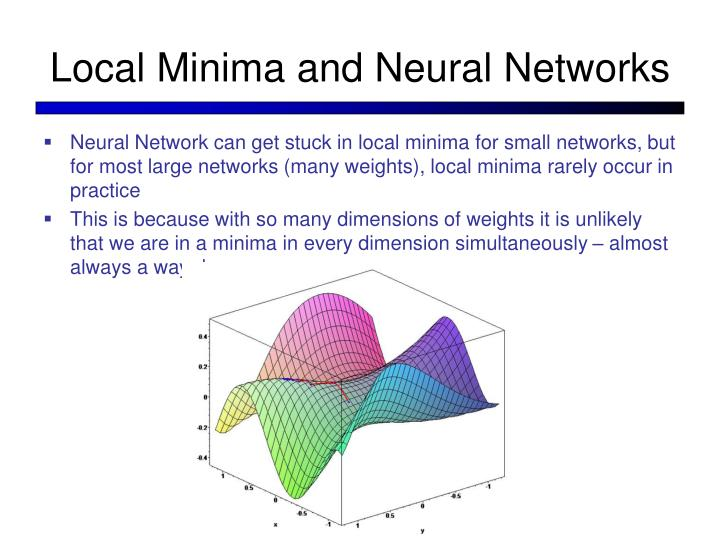 Local Minima and Neural Networks