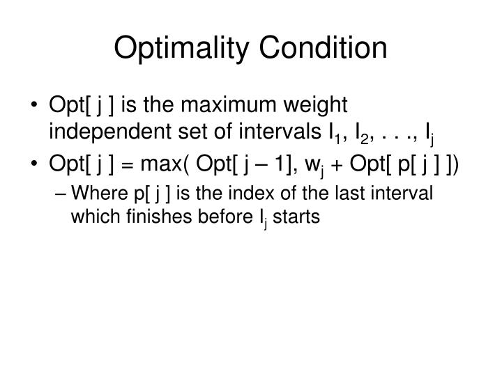 Optimality Condition