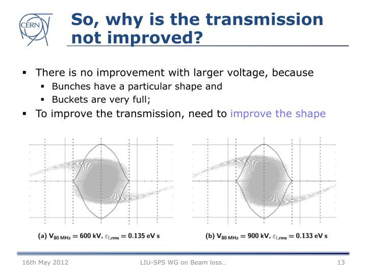 So, why is the transmission not improved?