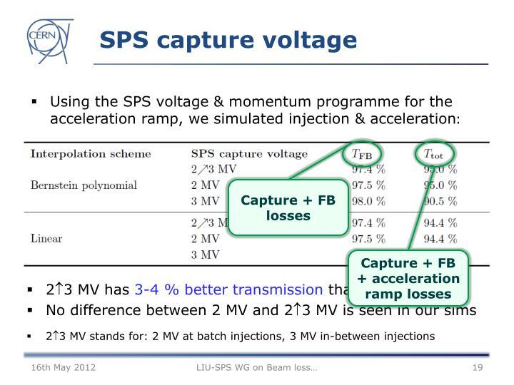 SPS capture voltage