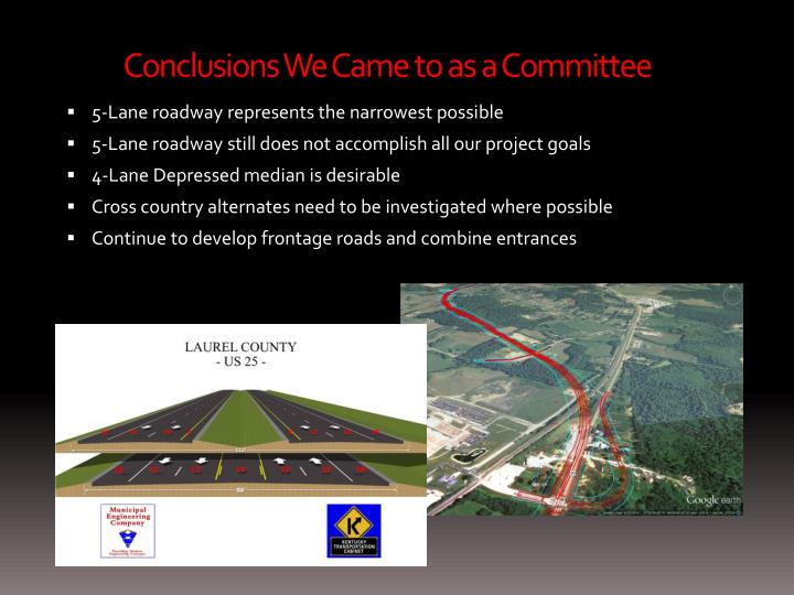 Conclusions We Came to as a Committee