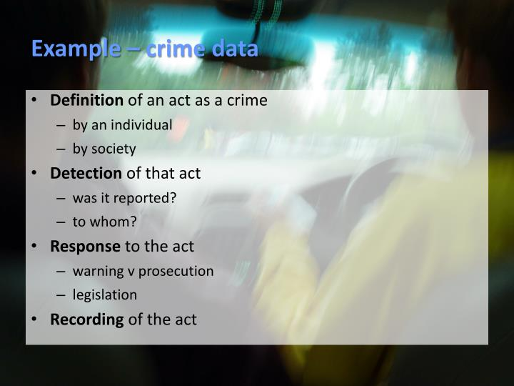 Example – crime data
