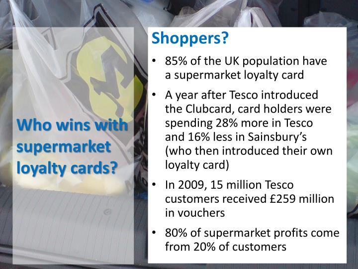 Who wins with supermarket loyalty cards?