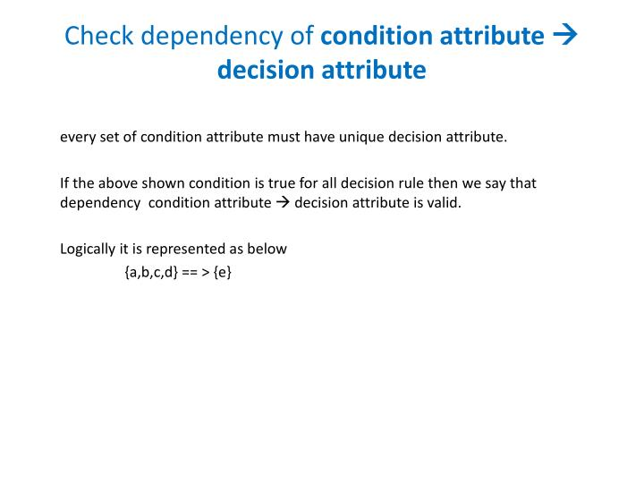 Check dependency of