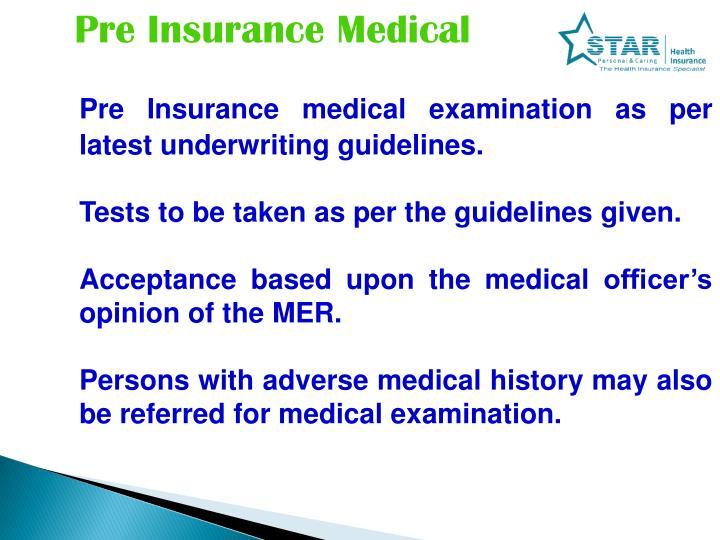 Pre Insurance Medical