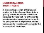 understanding your thesis