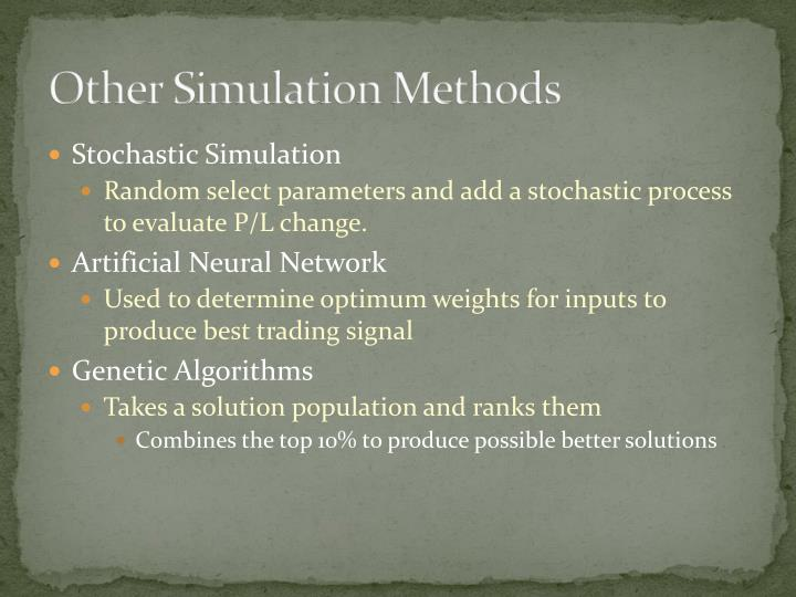 Other Simulation Methods