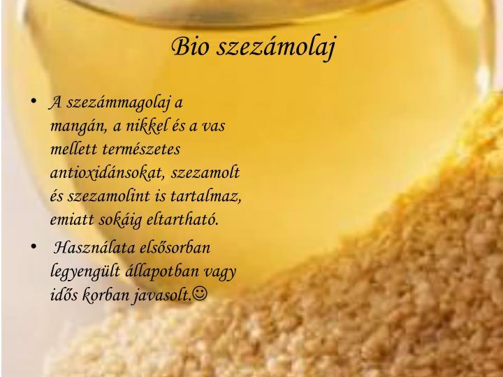 Bio szezámolaj
