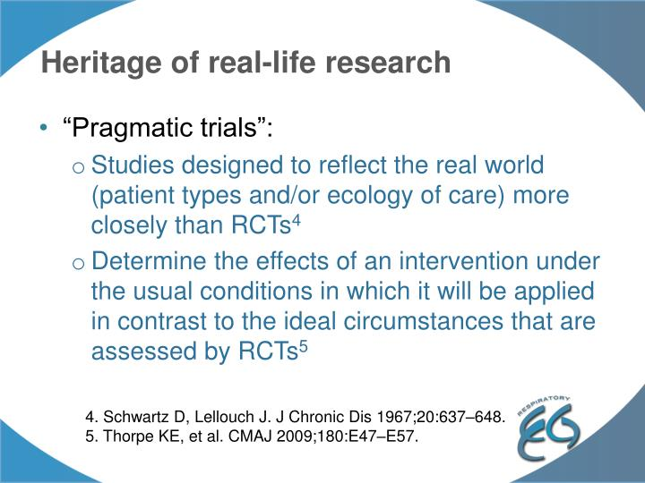Heritage of real-life research