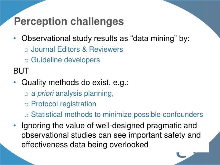 Perception challenges