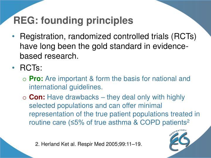 REG: founding principles
