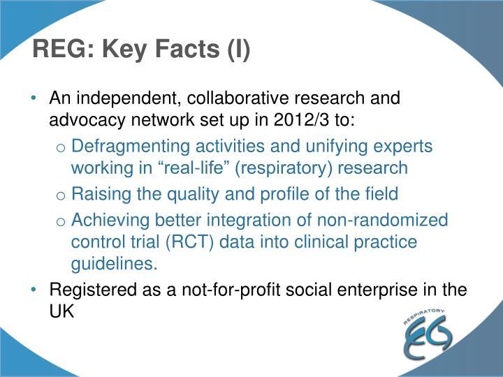 REG: Key Facts (I)