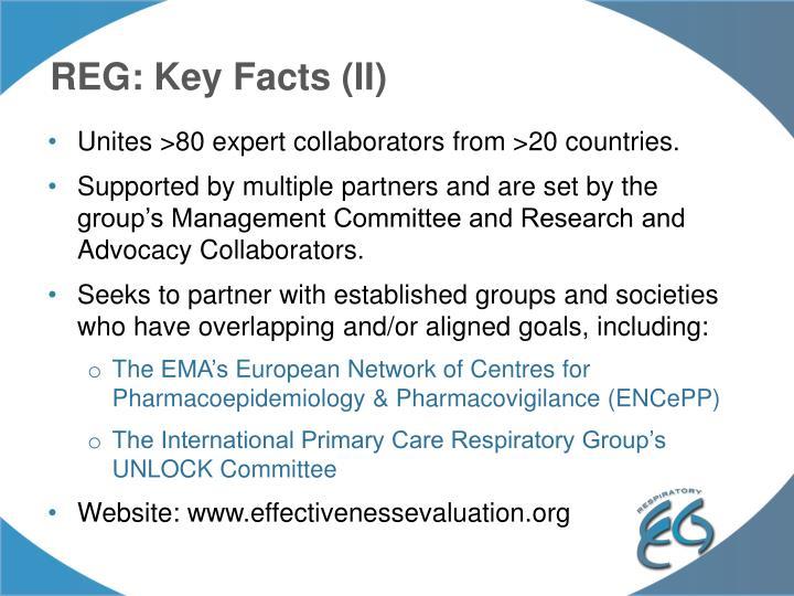REG: Key Facts (II)