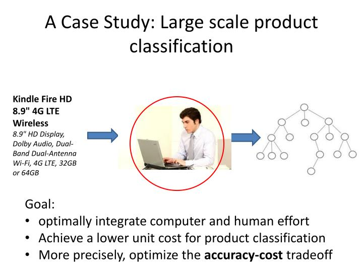 A Case Study: Large scale product classification