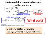 c ost combining numerical vectors with a network