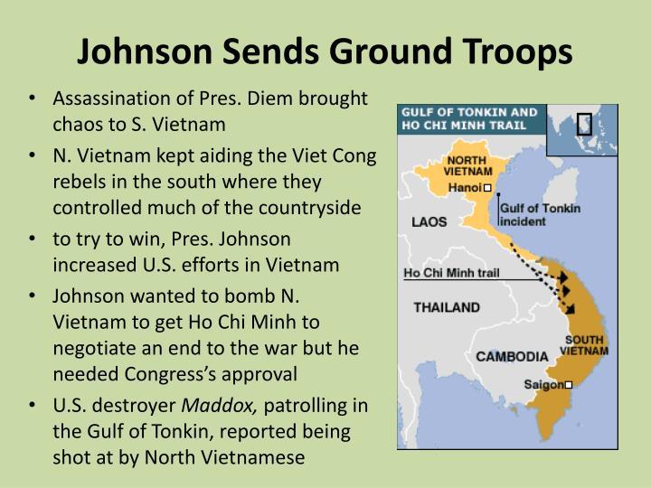 Johnson Sends Ground Troops