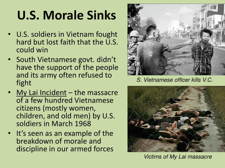 U.S. Morale Sinks