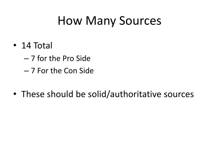 How Many Sources
