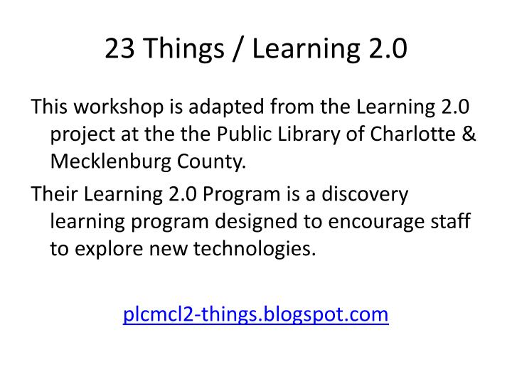 23 Things / Learning 2.0