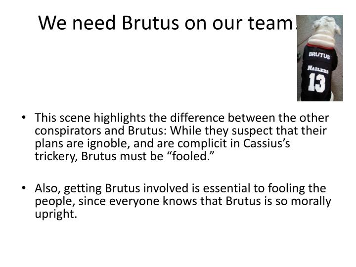 We need Brutus on our team!