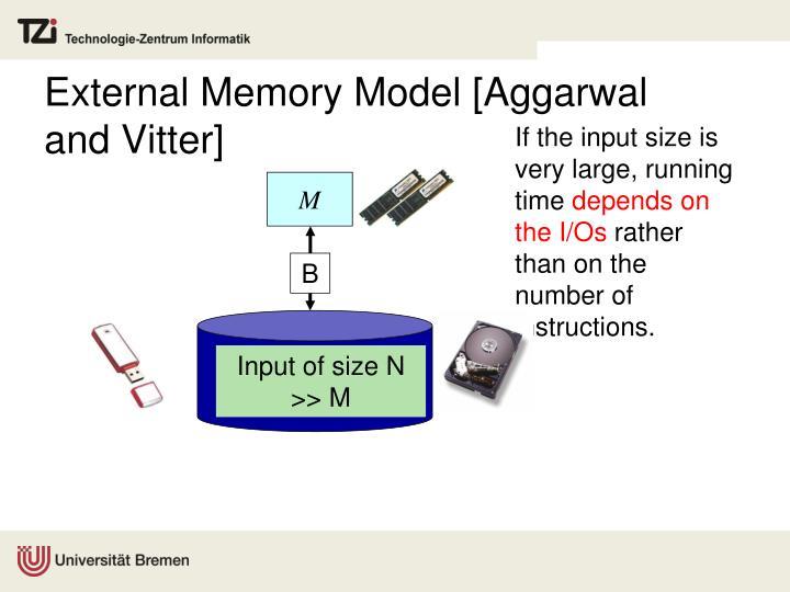External Memory Model [
