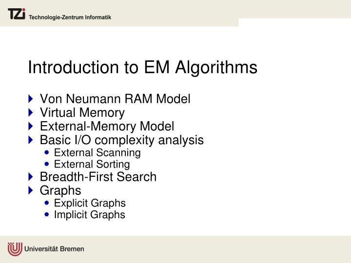 Introduction to EM Algorithms