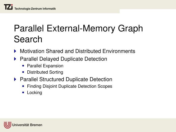 Parallel External-Memory Graph Search