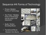 sequence 4 forms of technology