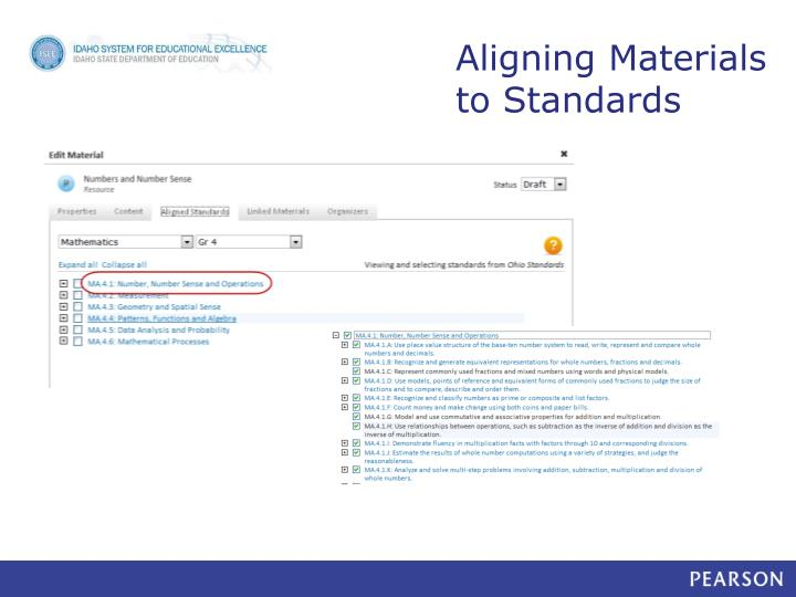 Aligning Materials to Standards