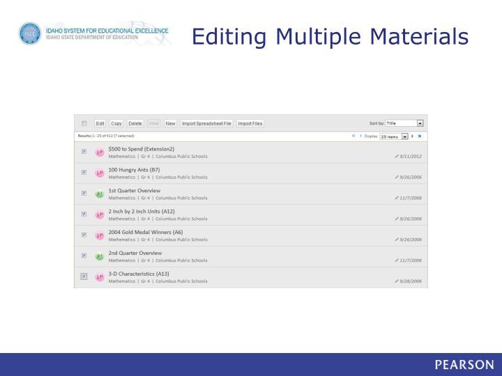 Editing Multiple Materials