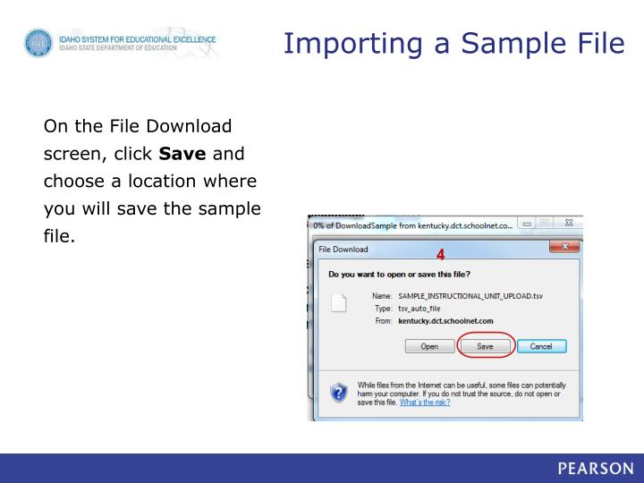 Importing a Sample File