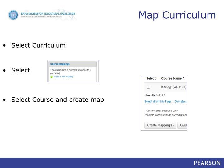 Map Curriculum
