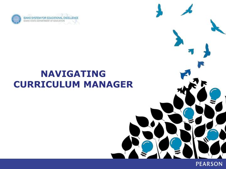 Navigating Curriculum Manager
