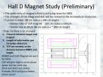 hall d magnet study preliminary
