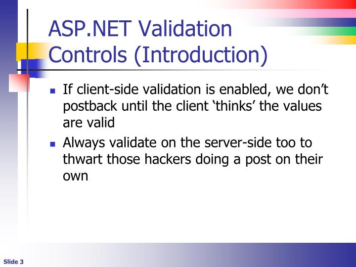 Asp net validation controls introduction1