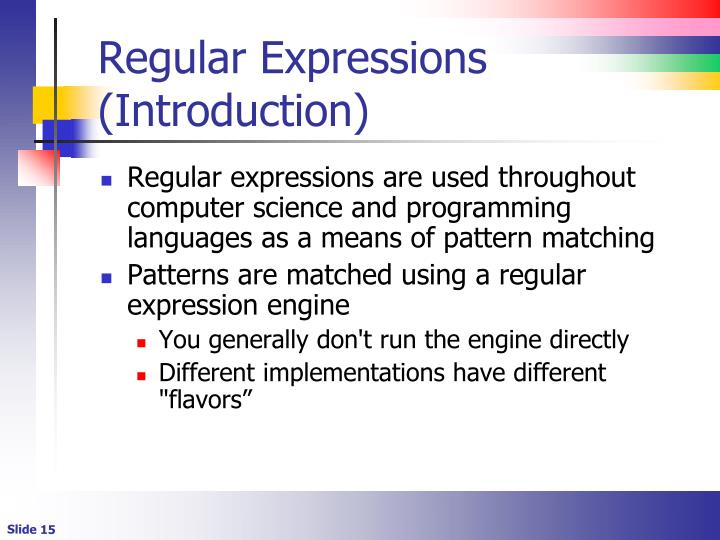Regular Expressions (Introduction)