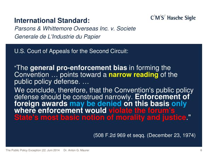 International Standard:
