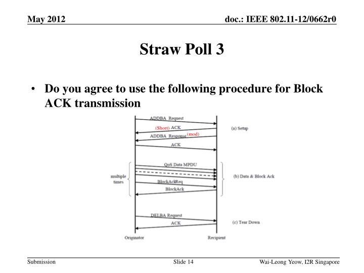 Straw Poll 3
