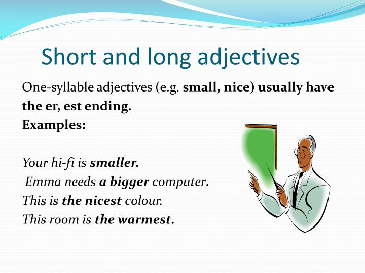 Short and long adjectives