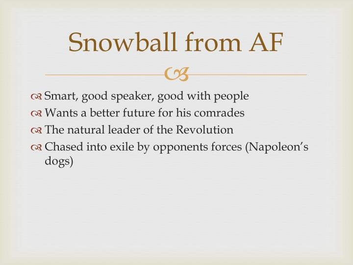 Snowball from AF