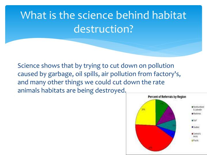 What is the science behind habitat destruction?