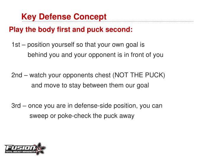 Key defense concept