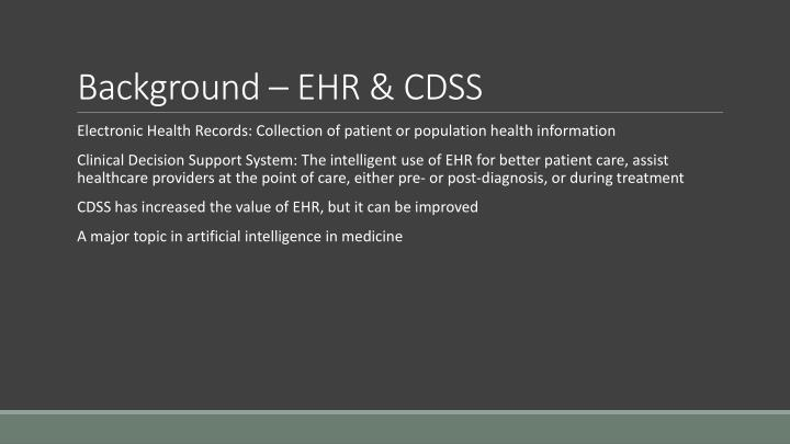 Background ehr cdss