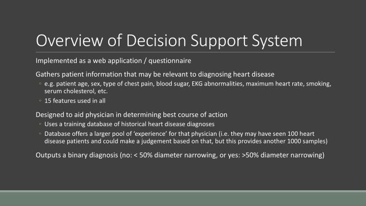 Overview of Decision Support System